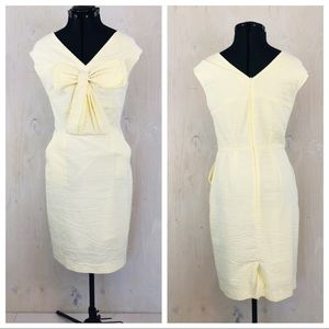 Yellow and White Cotton Sundress with Pockets